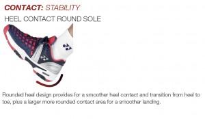 HEEL CONTACT ROUND SOLE